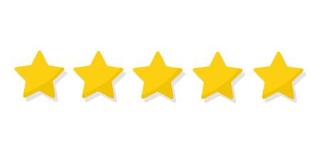 Rating golden stars Illustration