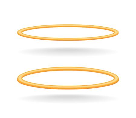 Vector holy golden nimbus circle isolated