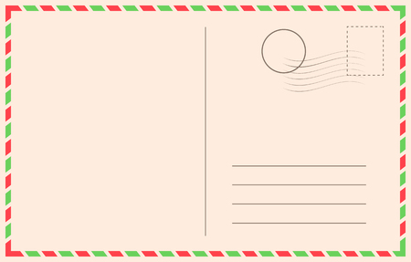 Vintage holiday postcard background vector template