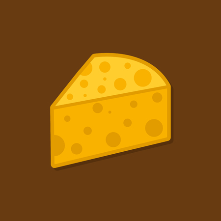 Pieces of cheese. Flat vector illustration