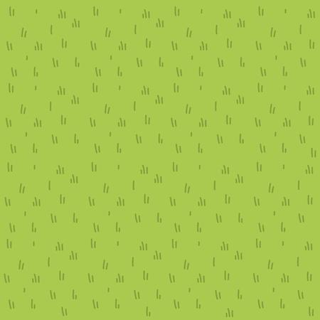 Patrón plano de vector de hierba de dibujos animados Ilustración de vector