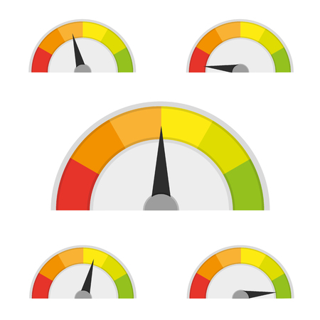 Speedometer icon or sign with arrow.