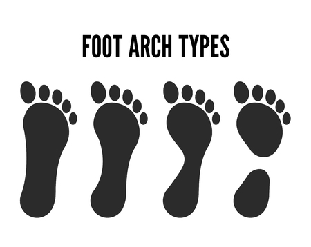Vector footprint illustration Feet silhouette isolated