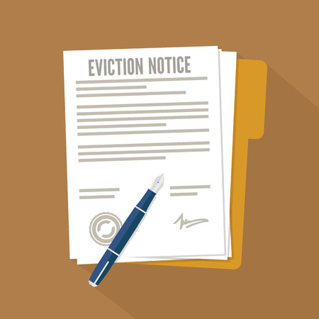 Eviction notice form. Concept flat icon Ilustrace