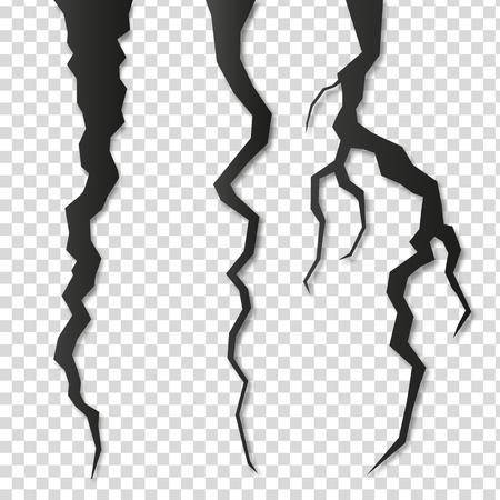 Illustrazione vettoriale di spaccatura o tuono