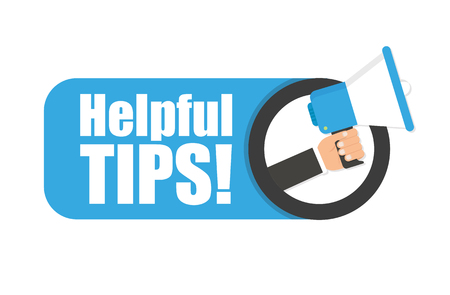 Hand holding megaphone - Helpful tips