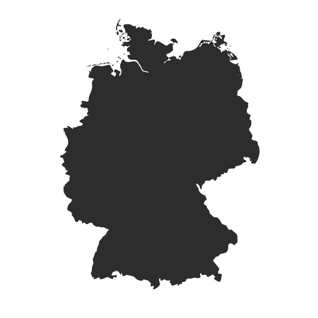 Detailed vector map - Germany