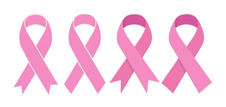 Pink Ribbon. Vector icon