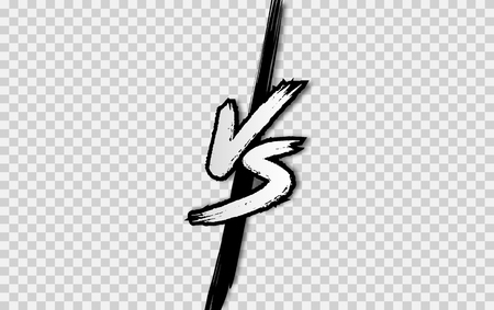 VS. Versus letter logo. Battle vs match, game Ilustracja