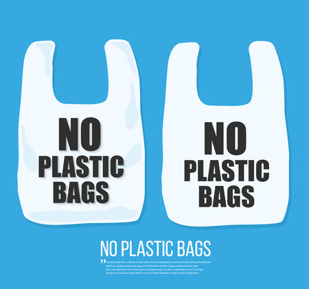 No plastic bag icon Vector flat design.