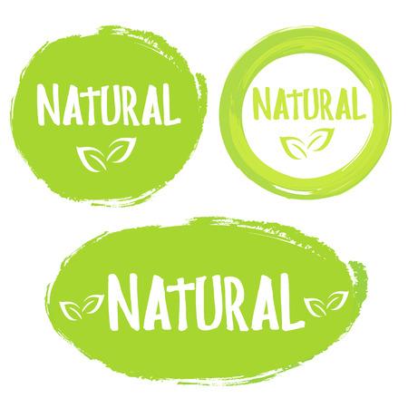 Natural product 100% on white background. Vector illustration Illustration