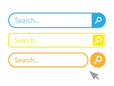 Search bar vector element set Vektoros illusztráció