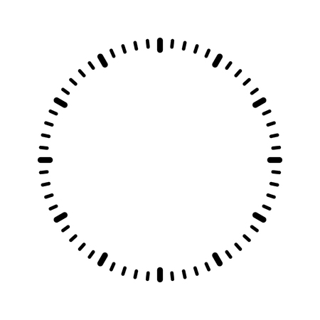 Clock face blank vector