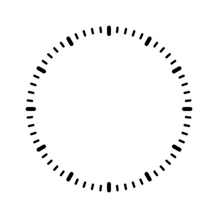 Clock face blank vector
