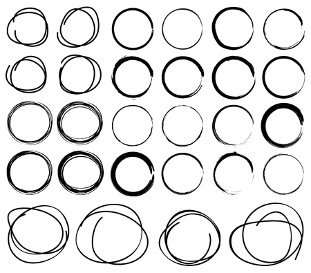 Hand Drawn Scribble Circles Ilustrace