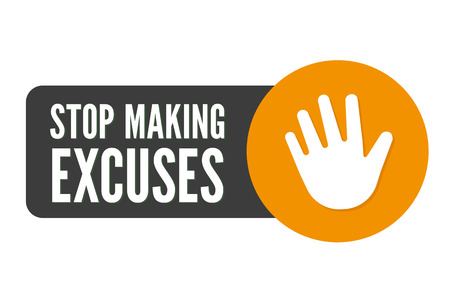 Stop Making Excuses icon. Flat vector