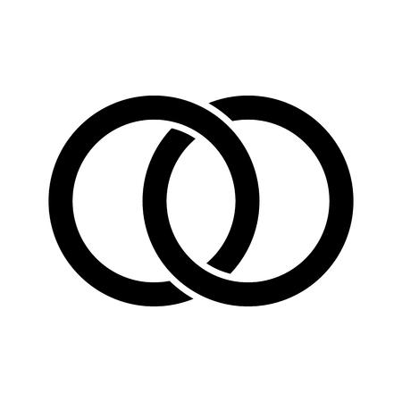 Interlocking circles, rings concept icon Foto de archivo - 125037208