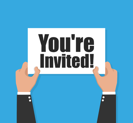 You're invited vector