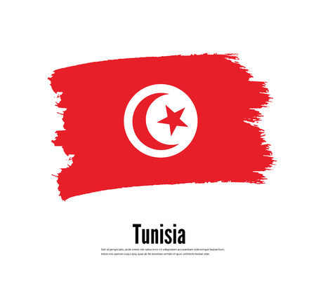 Flag of Tunisia. Vector illustration. Elements for design. Ilustração