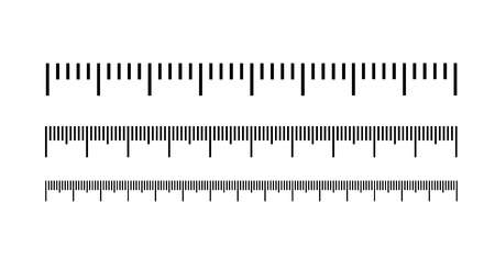 Escala de medición, marcado para reglas. Icono de ilustración vectorial