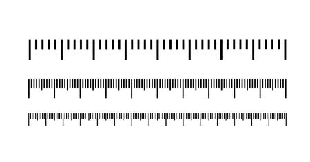 Messskala, Markup für Lineale. Vektorillustrationssymbol