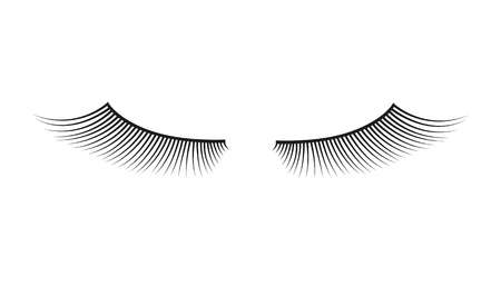 False eyelashes. vector element. Vettoriali