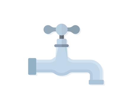 Water tap flat vector Reklamní fotografie - 124717582