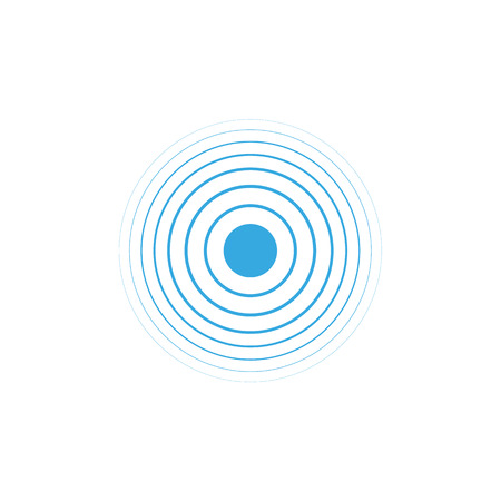 Blue water rings. Circle wave vector