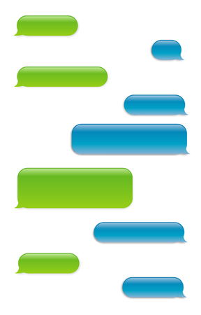 Smartphone SMS chat bubbles set. Vector icon Illustration