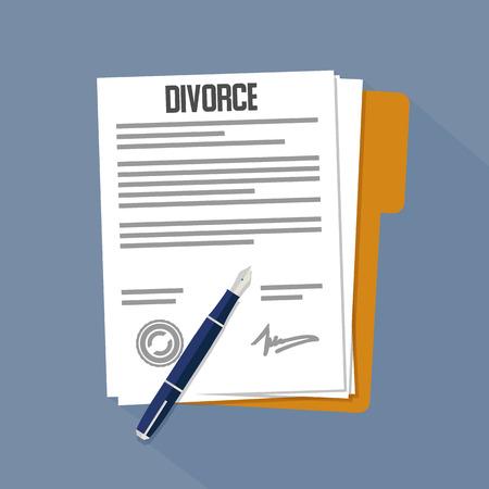 Divorce flat icon. Vector illustration Illustration