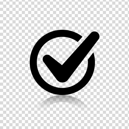 Check mark isolated web Icon vector or Sign and Silhouette