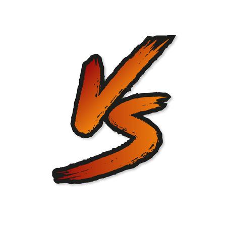 VS letters. Versus Vector Illustration