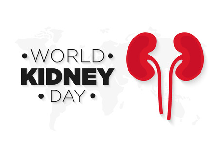 Kidney vector icon. World kidney day illustrations.
