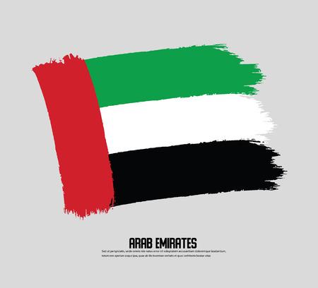 Illustration UAE Flag, Emirates