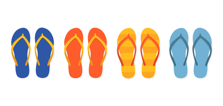 Flip flops icon isolated vector design. Summer icon set