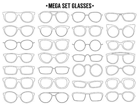 Sun glass line icon. Vector mega set Foto de archivo - 119675760