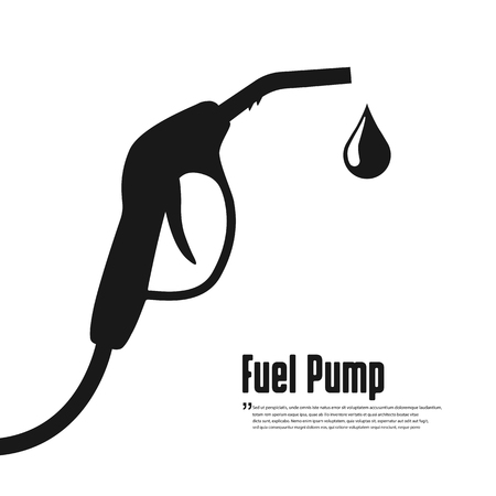 Fuel vector icon. Black icon on white background
