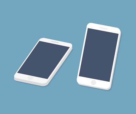 Smartphone icon and screen. Vector illustration.