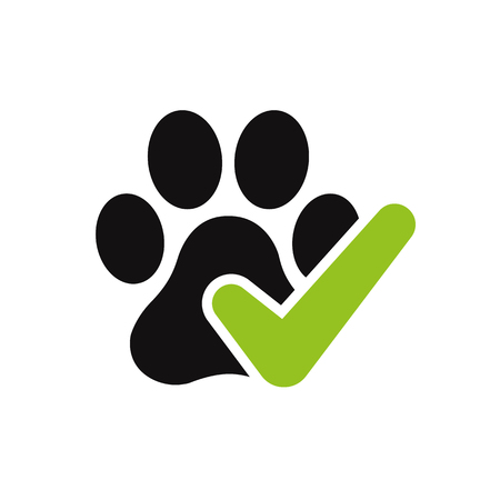 Pet friendly vector icon logo