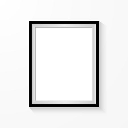 Cadre photo réaliste isolé sur fond blanc