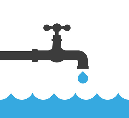 Turn off the water ?onceptual vector
