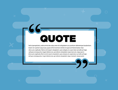 Remark quote text box poster