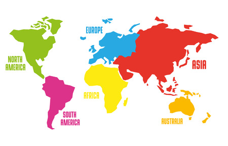 Vector illustration of map of the world