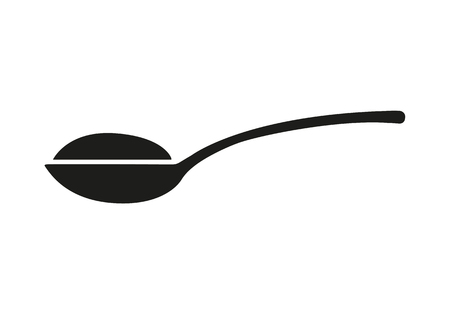 Spoon with sugar, salt, flour or other ingredient icon