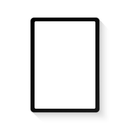 Tablet, device. Vector illustration frame with shadow