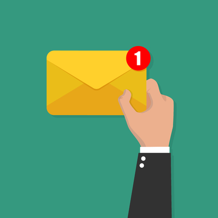 Vector de concepto de correo electrónico o SMS correo electrónico y mensajes entrantes