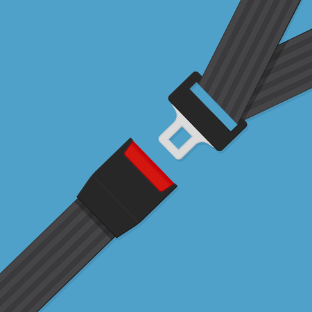 Seat belt sign vector flat icon