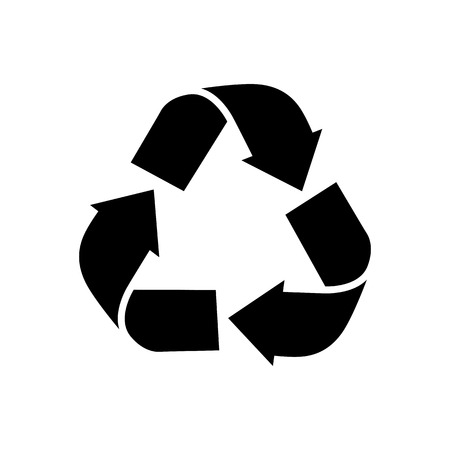 Symbol for recyclable products . Recycled icon