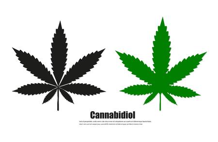 Cannabis sign icon. vector illustration concept image icon Vector Illustration