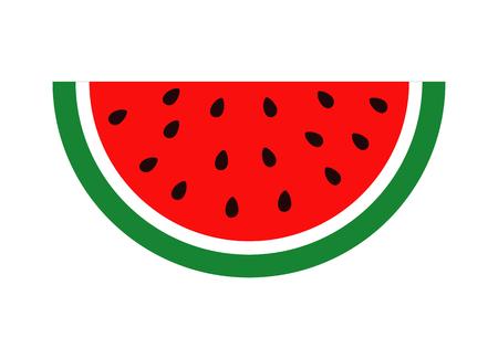 Flat icon slice of watermelon. Vector illustration icon Vetores
